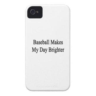 El béisbol hace mi día más brillante iPhone 4 cárcasa