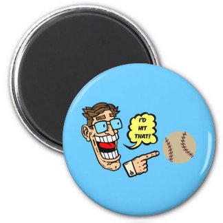 El béisbol I golpearía eso Iman De Frigorífico