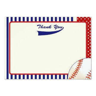 """El béisbol le agradece las notas invitación 4.5"""" x 6.25"""""""