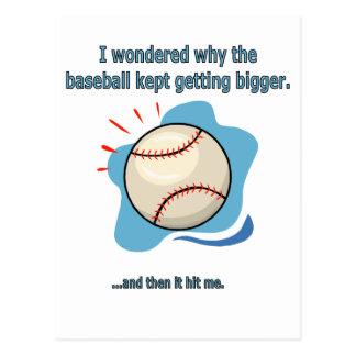 el béisbol me golpeó postal