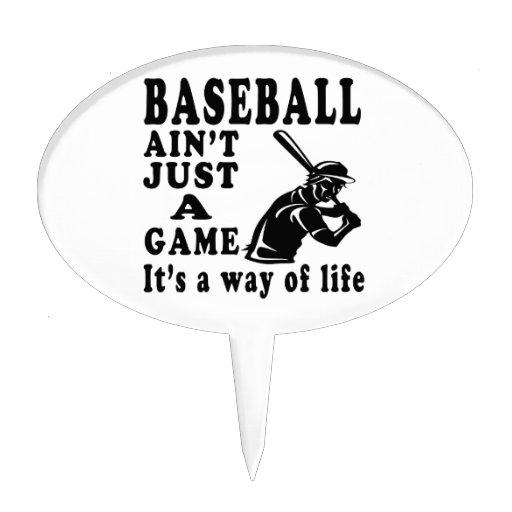 El béisbol no es apenas un juego que es una manera figuras para tartas