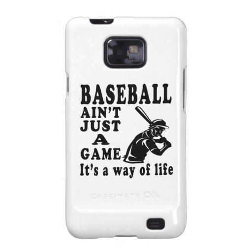 El béisbol no es apenas un juego que es una manera samsung galaxy SII carcasas