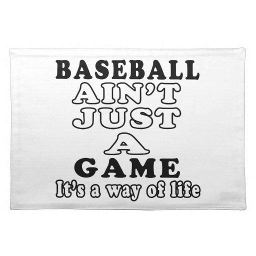 El béisbol no es apenas un juego que es una manera manteles