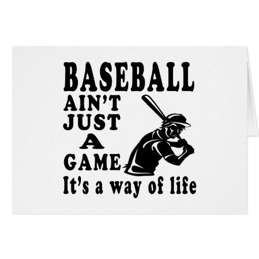El béisbol no es apenas un juego que es una manera tarjeta de felicitación