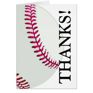 El béisbol o el softball le agradece tarjeta pequeña