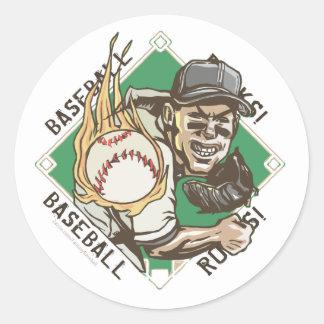 El béisbol oscila al pegatina de la jarra