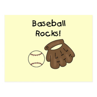El béisbol oscila las camisetas y los regalos tarjeta postal