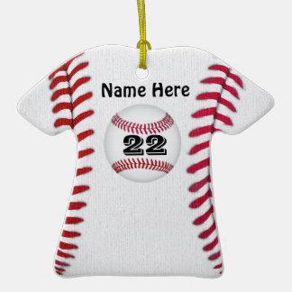 El béisbol personalizado adorna SU NOMBRE y NÚMERO Ornamente De Reyes