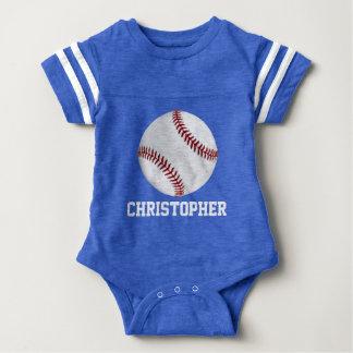 El béisbol personalizado embroma a bebés de los playeras