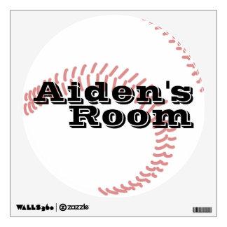 El béisbol personalizado embroma el dormitorio vinilo