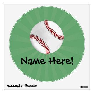 El béisbol personalizado en verde embroma a