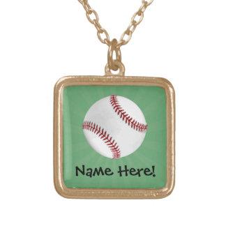 El béisbol personalizado en verde embroma a joyerias