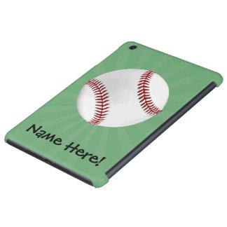El béisbol personalizado en verde embroma a fundas de iPad mini retina