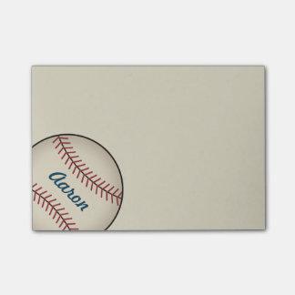 El béisbol personalizado se divierte el regalo de notas post-it®