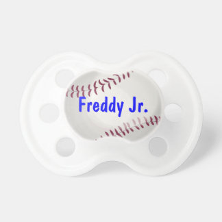 El béisbol se divierte al bebé personalizado amant chupetes de bebé