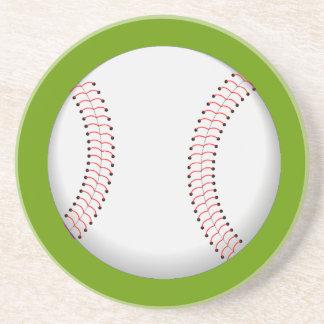 El béisbol se divierte el práctico de costa de la  posavasos diseño