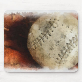 El béisbol se divierte - softball de la fotografía tapete de ratón