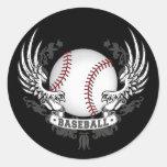 El béisbol se va volando al pegatina
