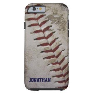 El béisbol sucio sucio personalizó la caja del funda de iPhone 6 tough