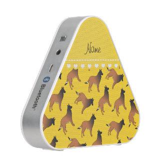 El belga amarillo conocido personalizado tervuren altavoz bluetooth