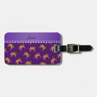 El belga púrpura conocido personalizado tervuren etiquetas de equipaje