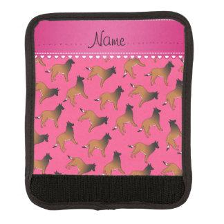El belga rosado conocido personalizado tervuren funda para asa de maleta