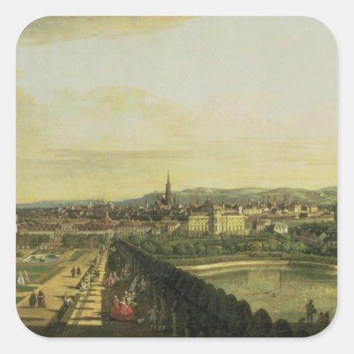 El belvedere de Gesehen, Viena Pegatina Cuadradas