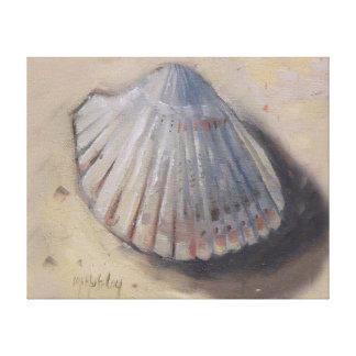 El berberecho Shell vara el Seashell Impresion De Lienzo