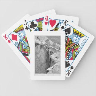 El Bergschrund en la abolladura Blanche en 1865, d Baraja Cartas De Poker