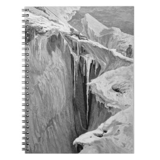 El Bergschrund en la abolladura Blanche en 1865, d Spiral Notebook