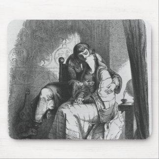 El besarse de Heloise y de Abelard Tapete De Ratones