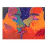 El besarse de los hombres colorido postales