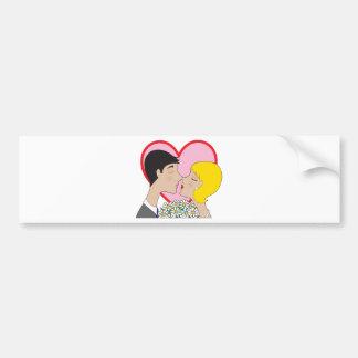 El besarse de los pares pegatina de parachoque