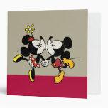 El besarse de Mickey y de Minnie