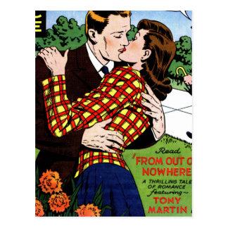 El besarse en el verde postales