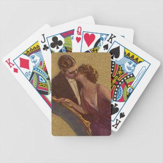 El besarse en la tarjeta del día de San Valentín d Baraja Cartas De Poker