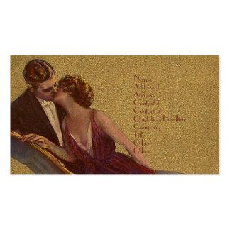 El besarse en la tarjeta del día de San Valentín Tarjetas De Visita