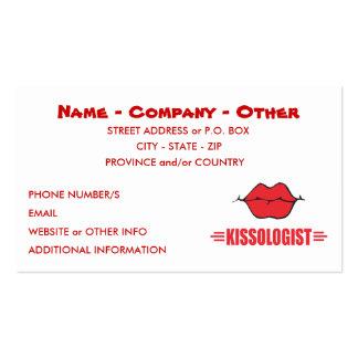 El besarse personalizado plantilla de tarjeta de visita
