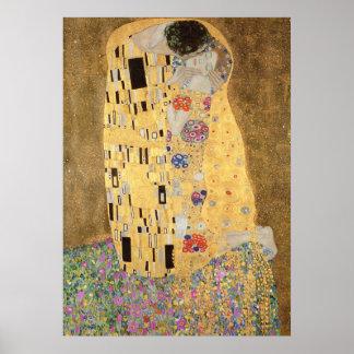 El beso, 1907-08 póster