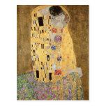 El beso, 1907-08 tarjeta postal