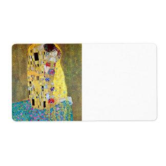 El beso 2 de Gustavo Klimt Etiqueta De Envío
