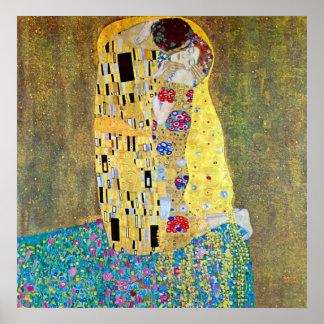 El beso 2 de Gustavo Klimt Poster