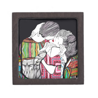 El beso cajas de recuerdo de calidad