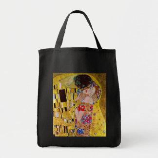El beso de Gustavo Klimt arte Nouveau del vintage Bolsas De Mano