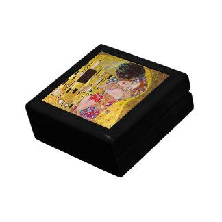 El beso de Gustavo Klimt, arte Nouveau del vintage Caja De Regalo