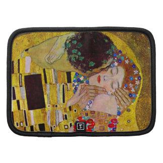 El beso de Gustavo Klimt, arte Nouveau del vintage Organizadores