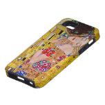 El beso de Gustavo Klimt, arte Nouveau del vintage iPhone 5 Case-Mate Cárcasa