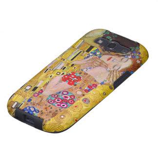 El beso de Gustavo Klimt arte Nouveau del vintage Galaxy S3 Funda