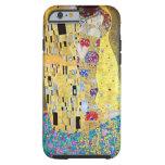 El beso de Gustavo Klimt, arte Nouveau del vintage Funda De iPhone 6 Tough