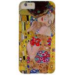 El beso de Gustavo Klimt, arte Nouveau del vintage Funda De iPhone 6 Plus Barely There